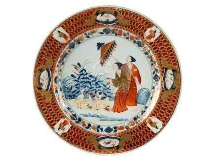 Teller mit eisenrotem Dekor Durchmesser: 23,7 cm. China, erste Hälfte 19. Jahrhundert. Porzellan,