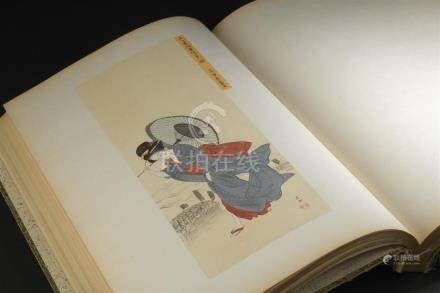 Livre Murayama shijô gakan(Peintures de l'école Murayama shijô)1911. Auteur : S