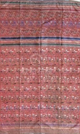 Deux tentures en soie brodée et tisséeChine, époque Guangxu (1875-1908)La premi