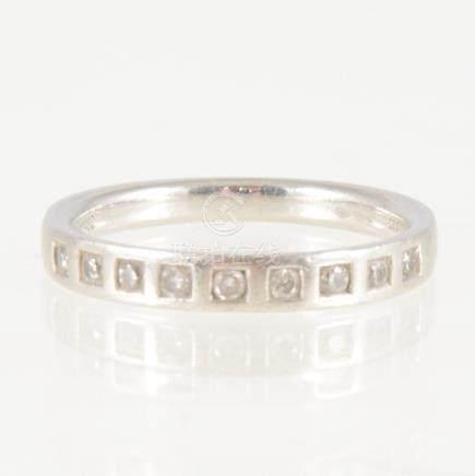 A diamond half eternity ring,