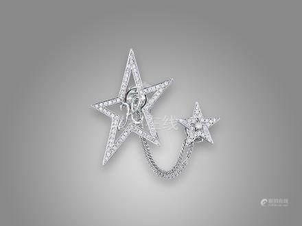 鑽石領帶針鑲18K白金