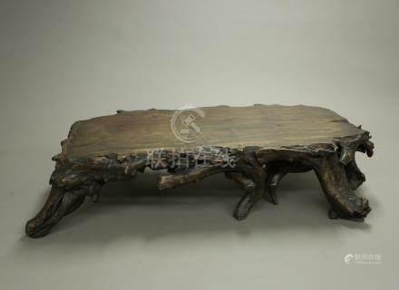木雕小茶桌