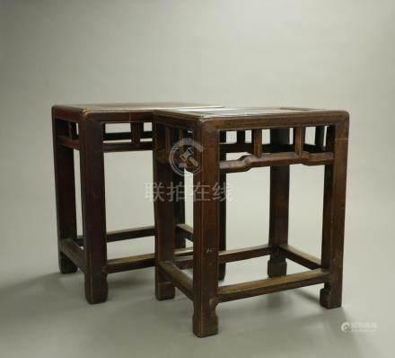 紅木小凳一對
