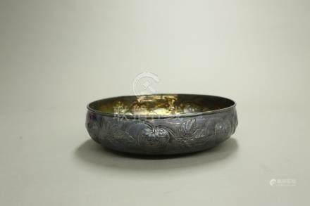 銀製草莓紋鉢