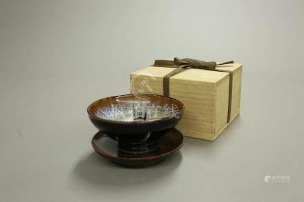 吉川窯碗漆盞托