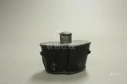 紫檀嵌錫茶葉罐