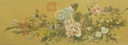 花卉圖 框