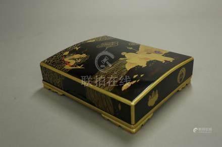 蒔繪羅漢圖蓋盒