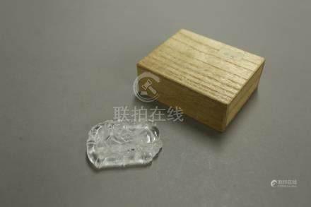 水晶梅竹圖牌