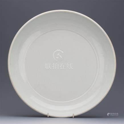 CHINESE PORCELAIN WHITE GLAZE DISH