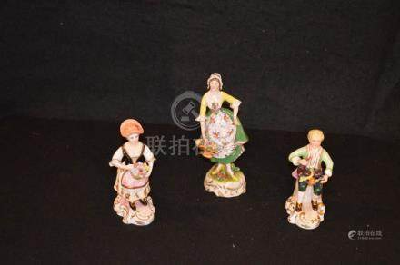 A Lot of Three Oriental Figurines