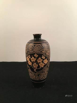 Chinese Ci Zhou Ware Porcelain Plum Vase