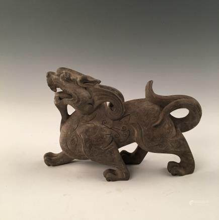 Chinese Fudog Pottery Statue