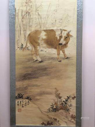 Hanging Scroll of Buffalo Painting