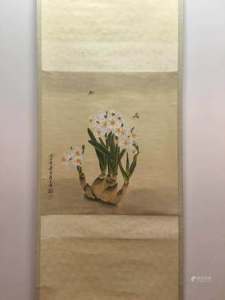 Hanging Scroll of Narcissus Painting