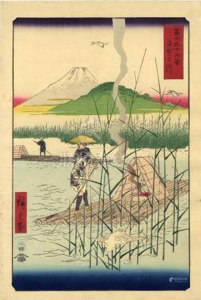 Hiroshige, Utagawa 1797-1858 - Meishoe (Oban, dat. 1858)