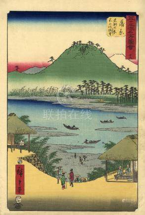 Hiroshige, Utagawa 1797-1858 - Meishoe (Oban, dat. 1855)