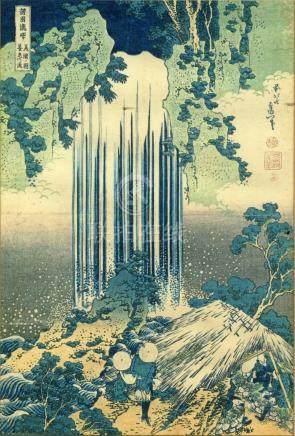 Hokusai, Katsushika 1760-1849 - Kopie auf Seidentuch, Yoro W