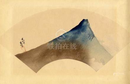 Nach Hokusai, Meishoe (Fächerblatt)
