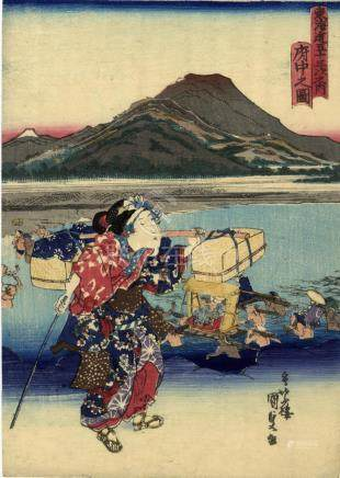 Kunisada, Utagawa 1786-1865 - Bijinga (Chuban, Serie ca. 183