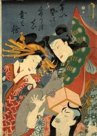 Kunisada, Utagawa 1786-1865 - Bijinga (Oban, dat. 1860)