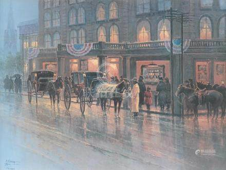 GERALD HARVEY JONES (American/Texas b. 1933) A PRINT,