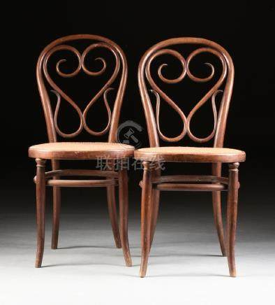ATTRIBUTED GEBRUDER THONET A PAIR OF CONTINENTAL