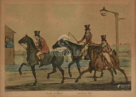 HENRY THOMAS ALKEN (English 1785-1851) A COLORED