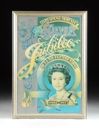 A COMMEMORATIVE SILVER JUBILEE POSTER OF QUEEN