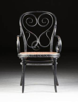 attributed to GEBRUDER THONET, AN EBONIZED BENTWOOD