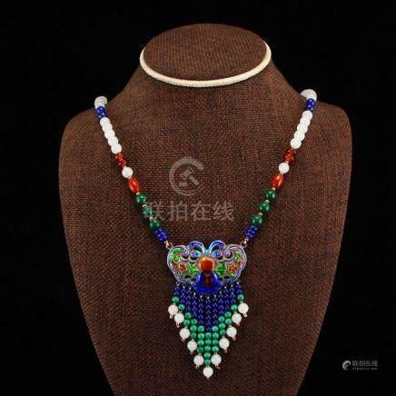 Chinese White Hetian Jade & Turquoise , Lapis Lazuli ,Nanhon