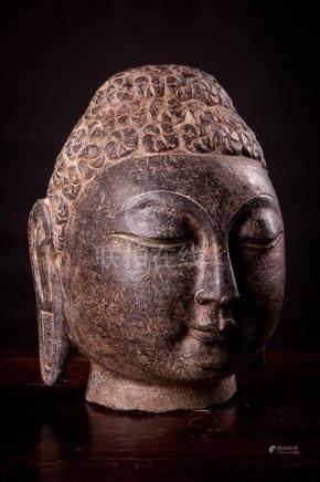 Male Shayamuni Carved Buddha Heads