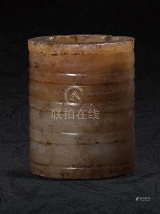 漢 弦紋玉管