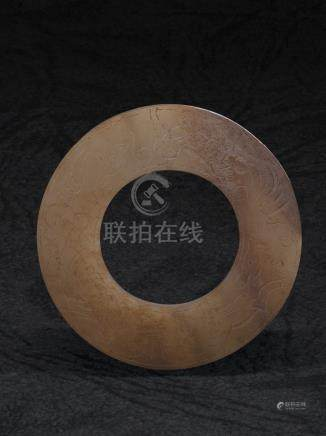東漢 陰刻狩獵圖紋玉環