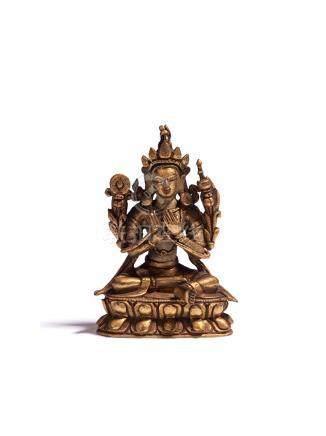 清代 銅鎏金度母像