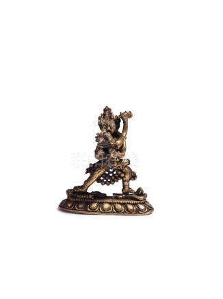 清代 銅鎏金勝樂金剛像