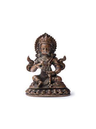尼泊爾 16世紀 銅財神像