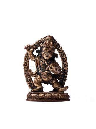 尼泊爾 15世紀 銅鎏金金剛手菩薩像