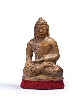 李查維王朝9世紀 白石雕釋迦牟尼像
