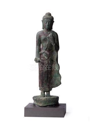 11世紀 東南亞銅立佛像