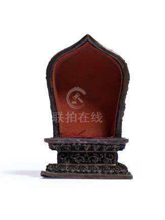 清代 銀佛龕