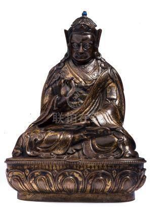 17世紀 銅鎏金蓮花生大士