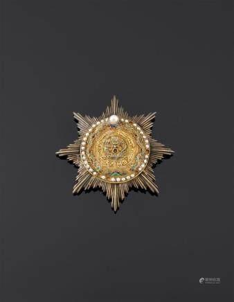 Empire de Chine - Ordre de la Précieuse Étoile du Double Dragon, fondé en 1882,