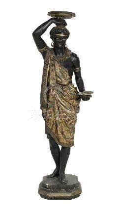 Venetian Carved and Painted Blackamoor