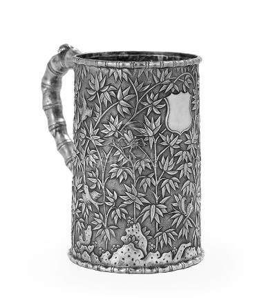 Fine Chinese Export Silver Tall Mug