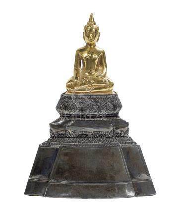 Thai Gold Leaf Figure of the Buddha Shakyamuni