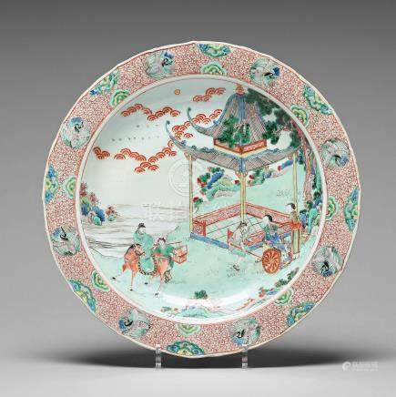 A famille verte charger, Qing dynasty, Kangxi (1662-1722).