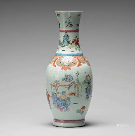 A famille rose vase, Qing dynasty (1644-1912), with Qianlong mark.