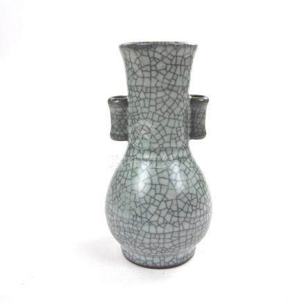 A Chinese Song dynasty guan ware style arrow vase, 20th century.
