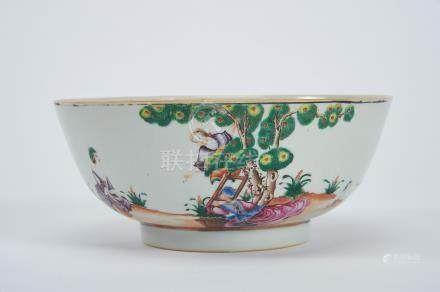 """A Bowl, Chinese export porcelain, polychrome decoration """"Crop of the cherry"""" copied from an"""